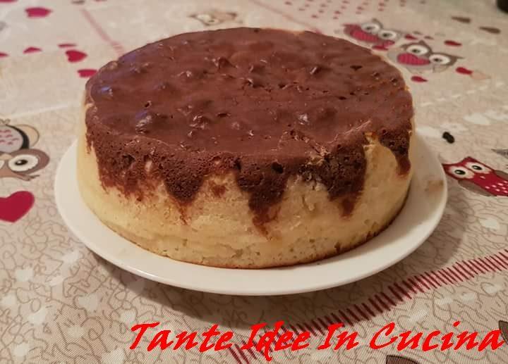 TORTA BICOLORE ALLO YOGURT AL COCCO E CACAO